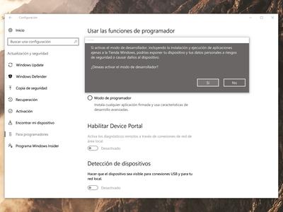 """Qué es y para qué sirve el """"modo de programador"""" de Windows 10"""