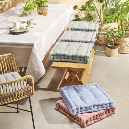 Lo más deseado para la terraza esta temporada son los cojines y textiles de Aldi de exterior