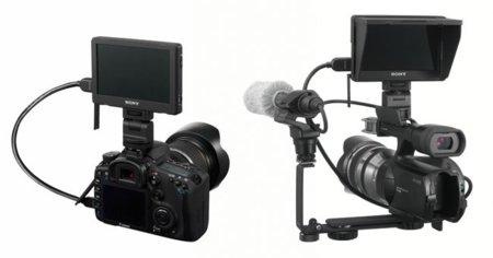 Sony CLM-V55, monitor auxiliar para grabar con videocámaras o cámaras reflex