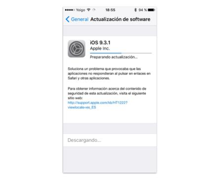 iOS 9.3.1 ya está disponible, aquí todas sus novedades