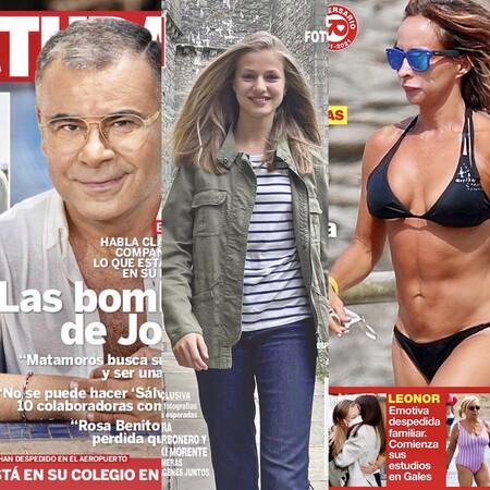 Jorge Javier bombardea 'Sálvame', María Patiño se pasea en cueros por la playa y Leonor ya está alojada en el 'Hogwarts hippie' de Gales: Estas son las portadas del miércoles 1 de septiembre