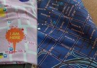 Mantas con mapas estampados
