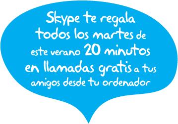 Llama gratis con Skype este verano