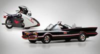 A la venta la moto de Batman y una réplica del Batmóvil de 1966