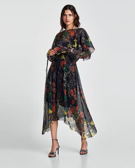 Zara Vestido De Flores