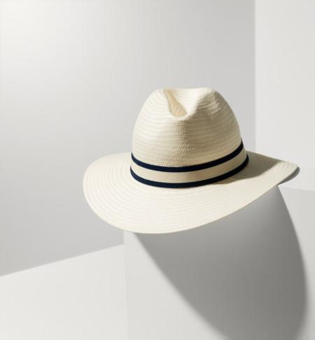 Sombrero Blanco Massimo Dutti