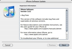 Nueva actualización del software del iPhone