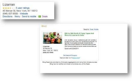 Bing entra en el mercado de las ofertas locales