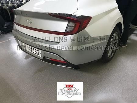 ¡Espiado! Al Hyundai Sonata 2020 le gustó la trasera del Honda Civic