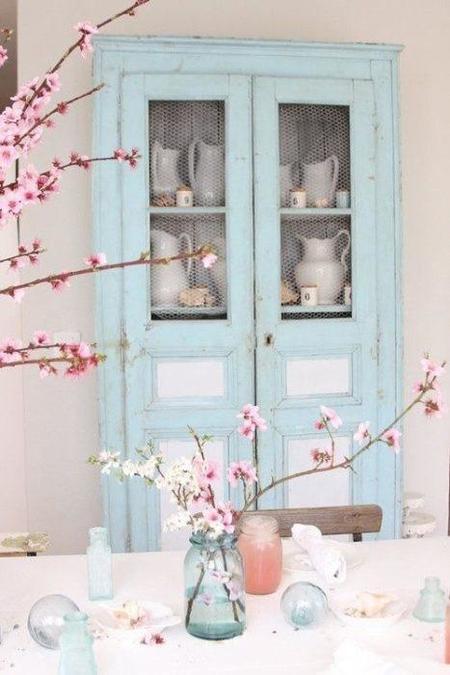 Armario Azul Pastel