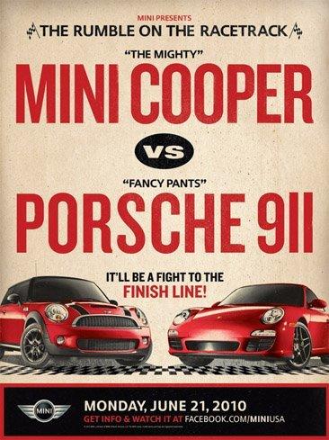 MINI reta formalmente a Porsche en EEUU: ¿habrá batalla?
