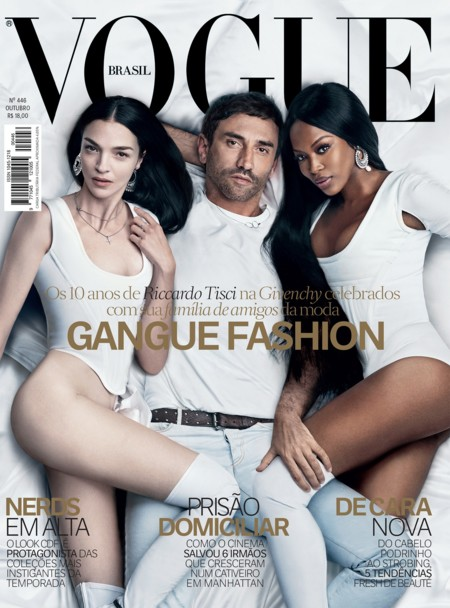 Vogue Brasil: Mariacarla, Naomi y Riccardo Tisci