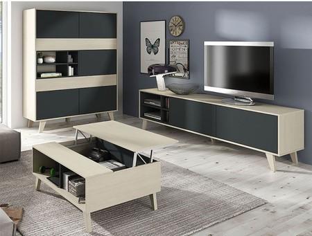 Este mueble para la televisión con estilo nórdico puede ser el protagonista de tu salón por 109 euros y envío gratis