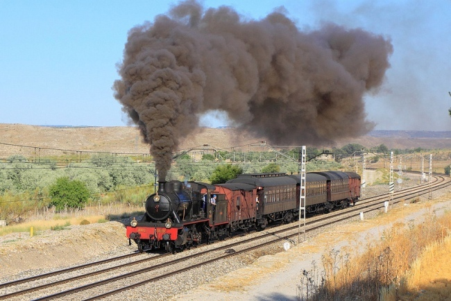 tren de la fresa a vapor