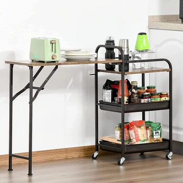 Cinco carritos de cocina de lo más prácticos que nos permiten ganar espacio de almacenaje sin complicarnos y sin ataduras