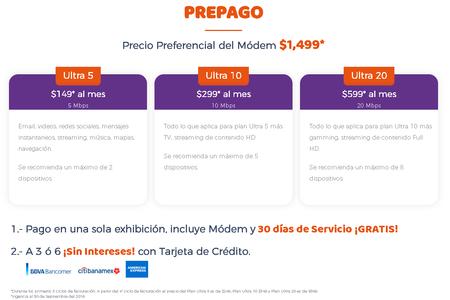 Ultranet Internet 4g Lte Mexico Prepago Promocion