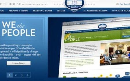 La Casa Blanca estrena web de peticiones