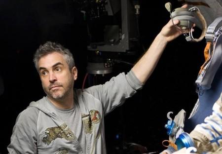 Alfonso Cuarón durante el rodaje de Gravity