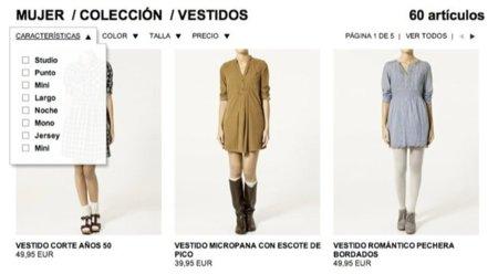 Zara estrena su tienda online. Vestidos