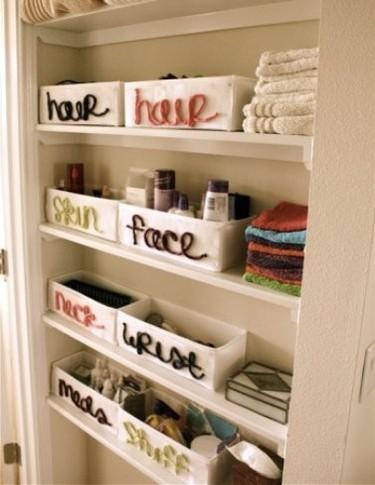 Una buena idea: organizar con lanas y cajas tu zona de almacenaje