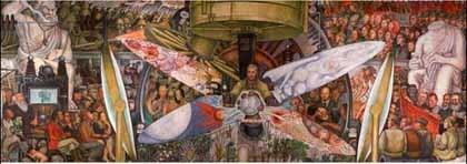 Los murales de Diego Rivera se exhiben en México