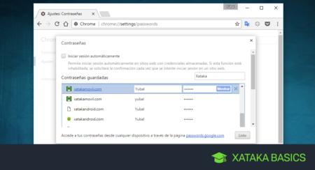 Cómo ver y administrar todas tus contraseñas en Chrome