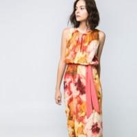 maxi vestido de flores de mango para boda