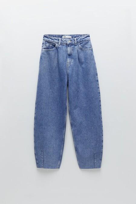 Jeans de tiro alto con cinco bolsillos