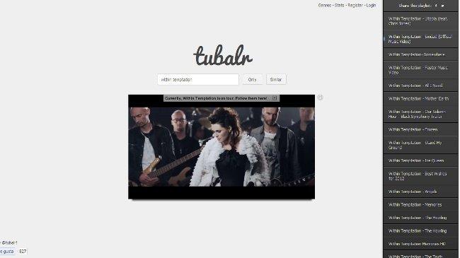 Tubalr, un servicio para ver sólo vídeos musicales procedentes de YouTube