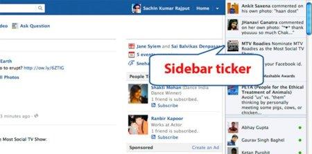 ¿Y qué pasa con el Ticker de Facebook en el nuevo diseño?