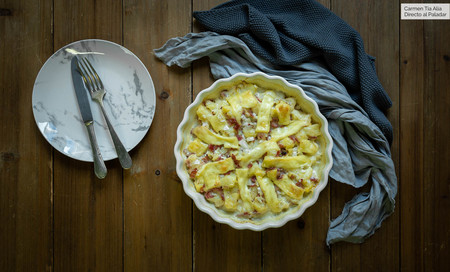 Cómo hacer tartiflette, el popular pastel de patata, beicon  y queso francés