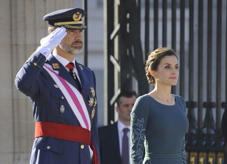 Doña Letizia repite vestido en la tradicional Pascua Militar