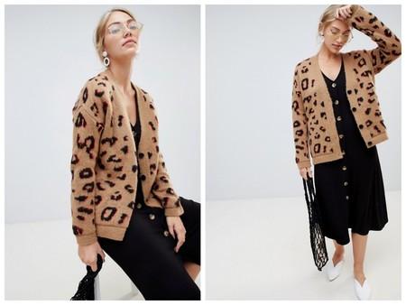 Chaqueta Punto Leopardo
