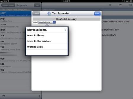 TextExpander Touch 2, la solución para sustituir texto en iOS se actualiza