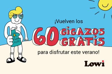 Vuelven los bonos de datos gratis a Lowi: 60GB durante este verano