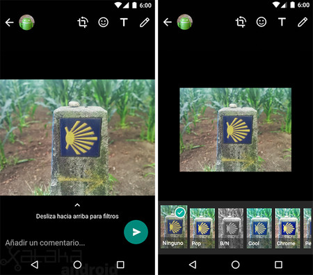 WhatsApp Filtros Android