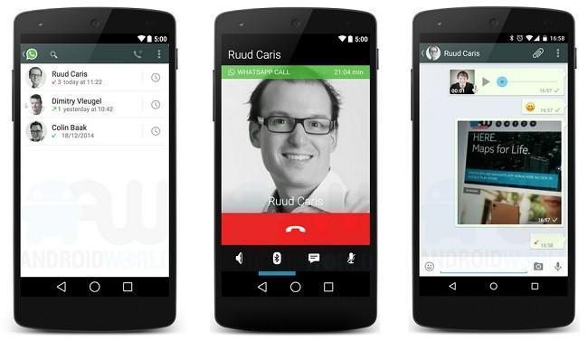 Llamadas por WhatsApp, esta es su apariencia en Android