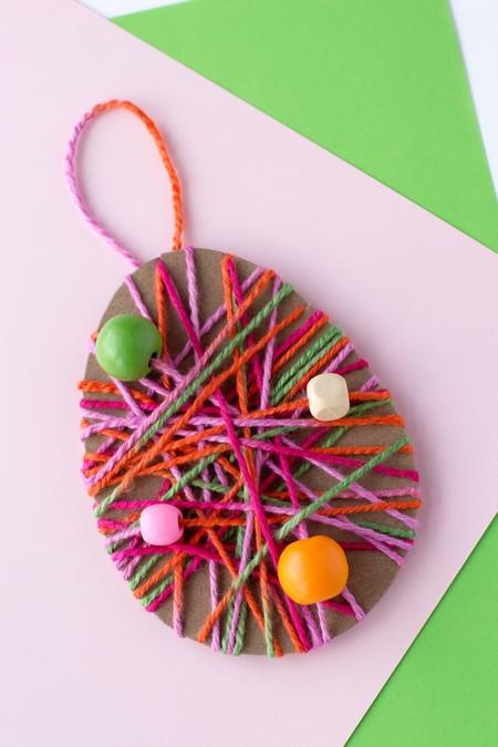 Manualidades Pascua Huevos Lana