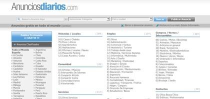 Anunciosdiarios.com, nuevo portal de anuncios clasificados en español
