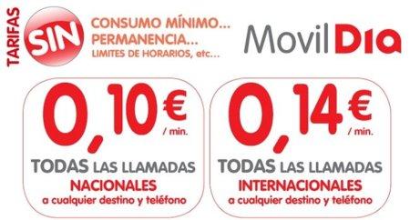 Móvil Día simplifica sus tarifas nacionales e internacionales