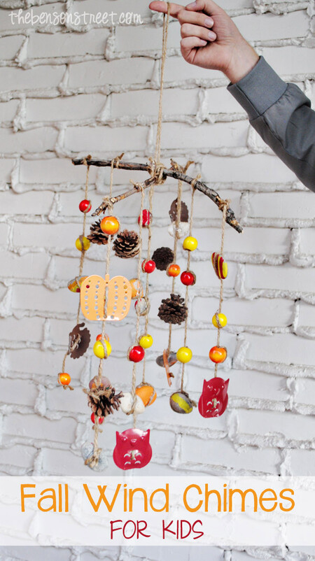 Cute Fall Craft For Kids Fall Wind Chimes At Thebensonstreet Com