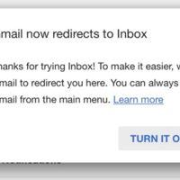 Google te invita a olvidarte de Gmail con una redirección si usas Inbox