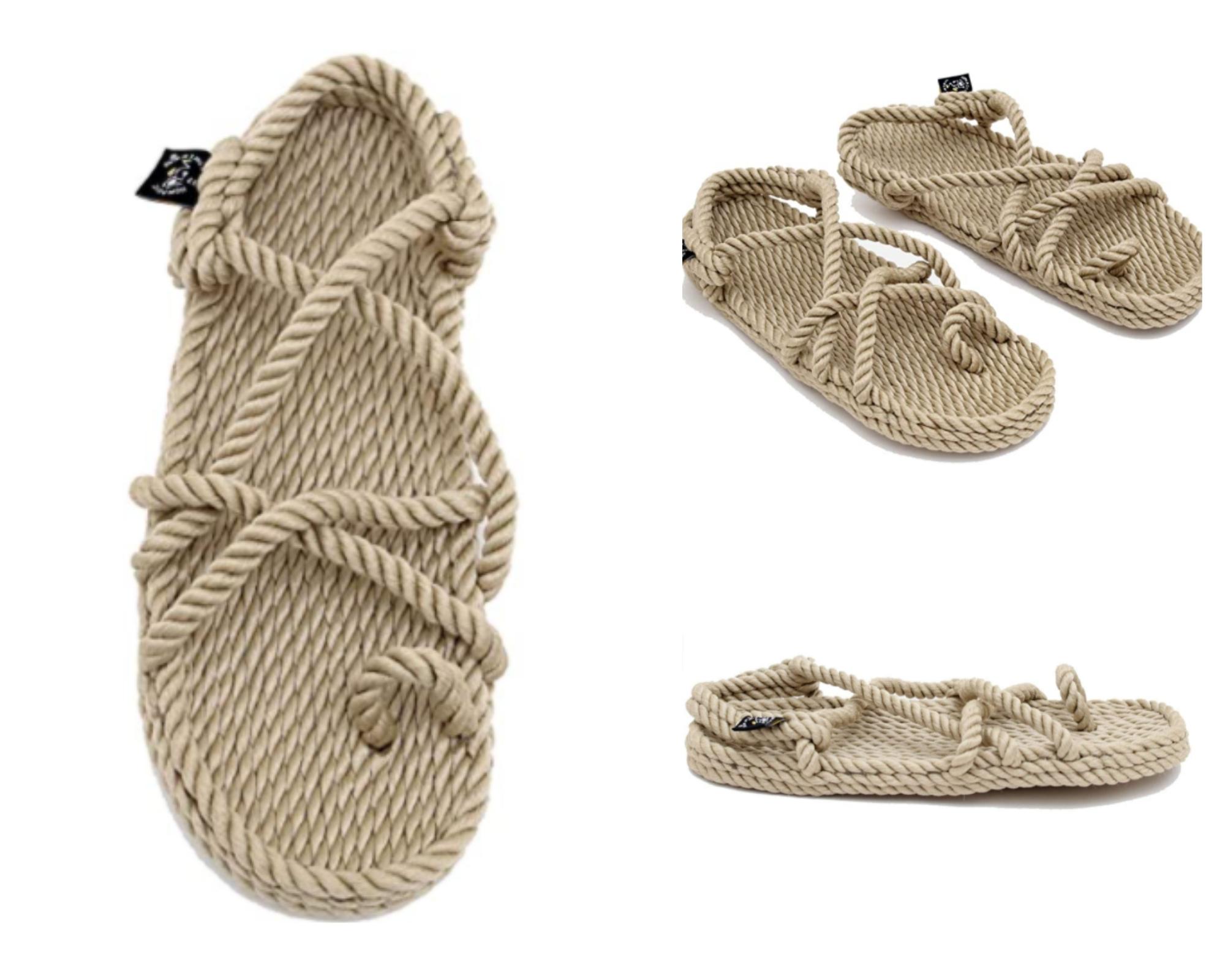 Nomadics Toe Joe - Sandalias de cuerda unisex para adultos, color camel