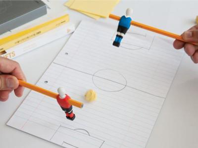 Penball, una goma de borrar con la que jugar al futbolín