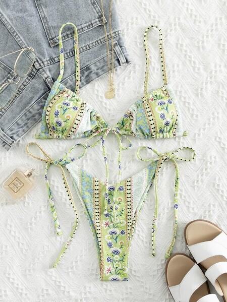 Bikini Pasley Verde Floral
