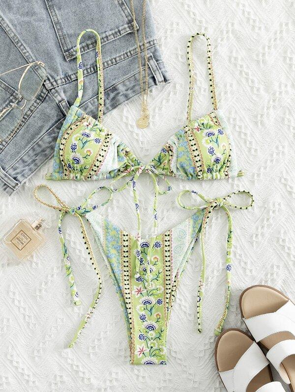 Bikini estampado paisley floral