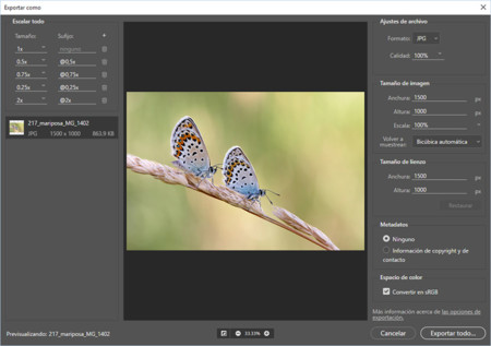 Adobe Photoshop 2015.1 Exportar como