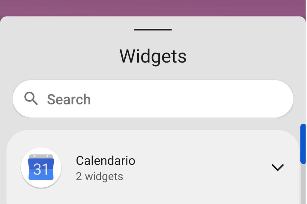 Android doce DP3 mejora el selector de widgets con un buscador