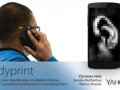 Desbloquear el teléfono con tu oreja o los nudillos será posible con BodyPrint de Yahoo