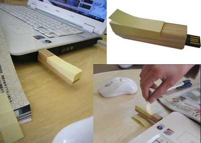Memoria USB con Posts-its incorporados